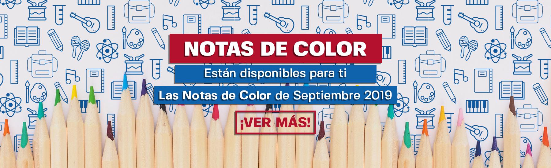Notas de Color - Septiembre 2019
